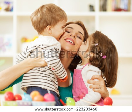 We love you mummy! - stock photo