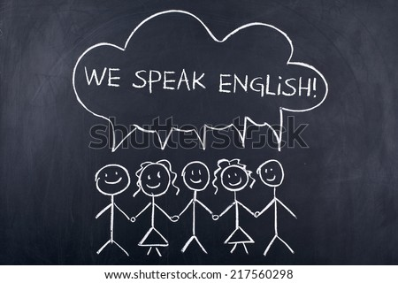 We Speak English - stock photo