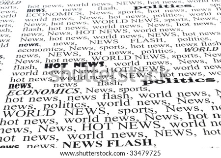we take all news, newspapers background closeup - stock photo