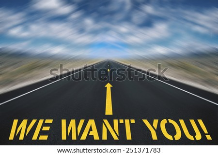 We want you sketch on a road