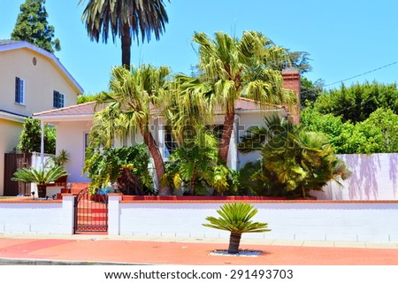 We watched beautiful homes and estates in the Santa Monica City, California.