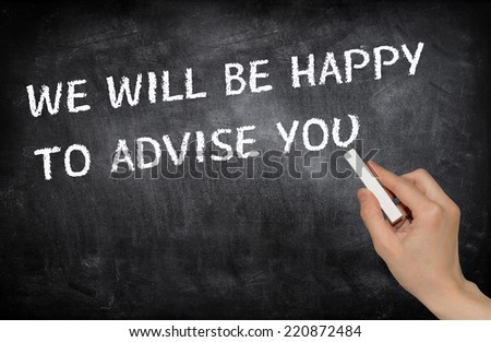 We will be happy to advise you - stock photo
