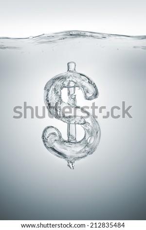 Weak dollar - stock photo