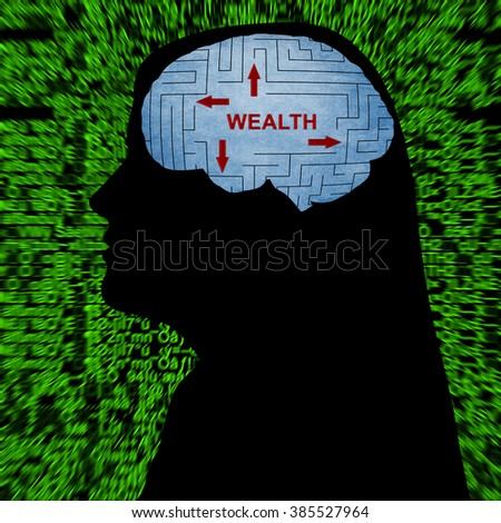 Wealth in mind - stock photo