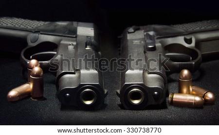 Weapon handgun close-up. - stock photo