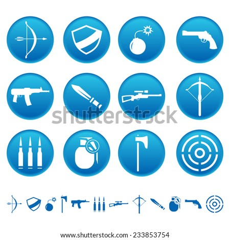 Weapon icons - stock photo