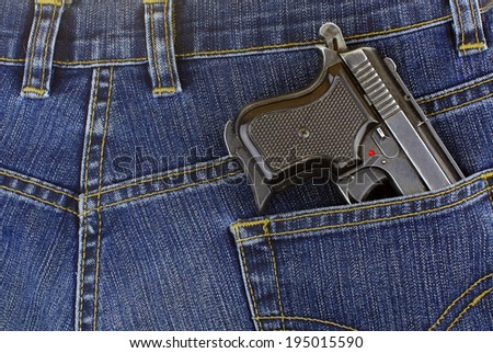 weapon in your pocket - stock photo