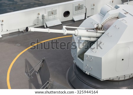 weapon of warships - stock photo