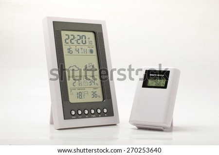 Weather and home climate monitoring equipment - stock photo