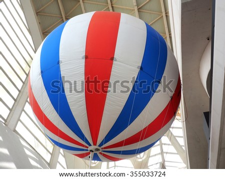Weather Balloon in museum - stock photo