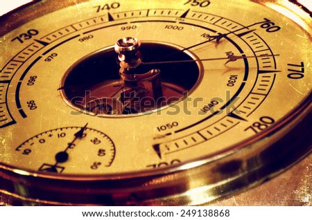 Weather barometer - stock photo