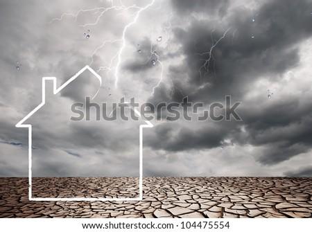 Weather damage - stock photo