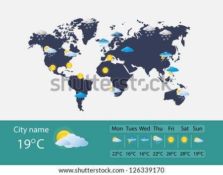 Weather forecast - stock photo