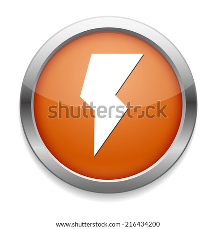 weather icon / button - stock photo