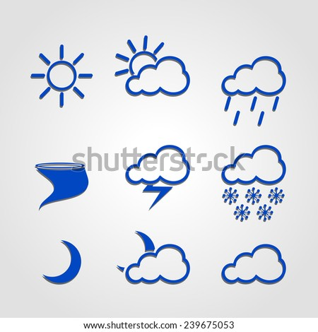Weather icon set of infographics figures