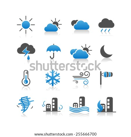 Weather icon set - Simplicity Series - stock photo