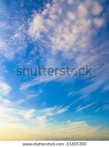 Weather Ocean Sky - stock photo