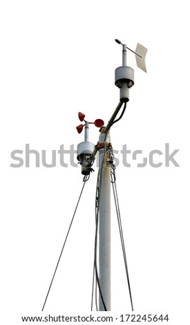 Weather station. isolated on white background - stock photo