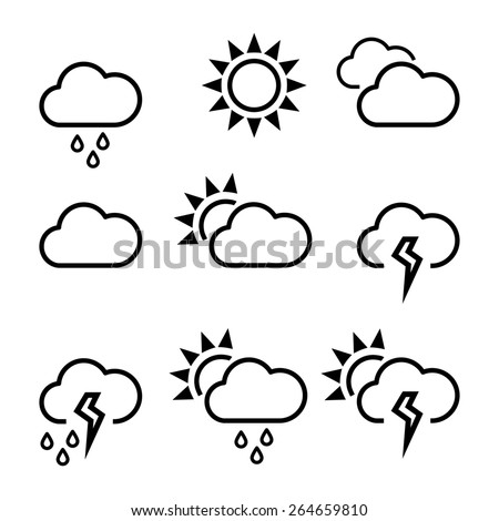Weather  template icons.