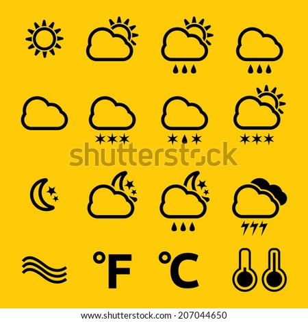 Weather thin icons