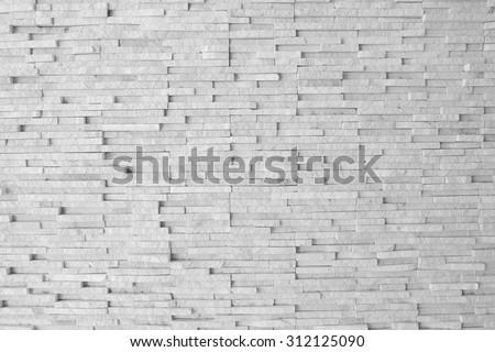 Weather worn brick wall interior pattern decoration vintage style - stock photo