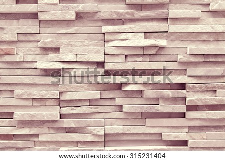 Weather worn brick wall interior pattern decoration vintage style with fine arranged wood pave - stock photo