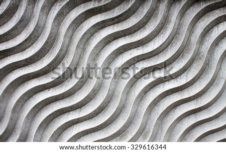 Weathered abstract concrete waves - stock photo