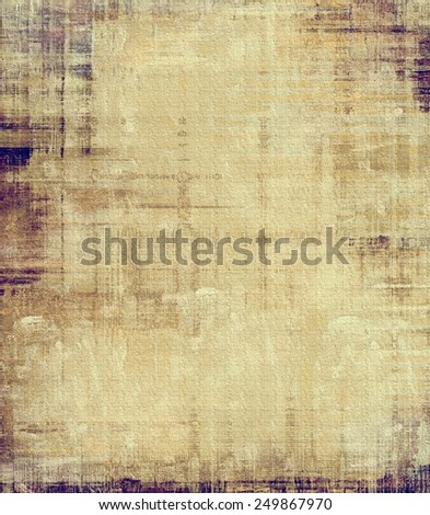 Weathered and distressed grunge background with different color patterns: yellow (beige); brown; gray; purple (violet) - stock photo