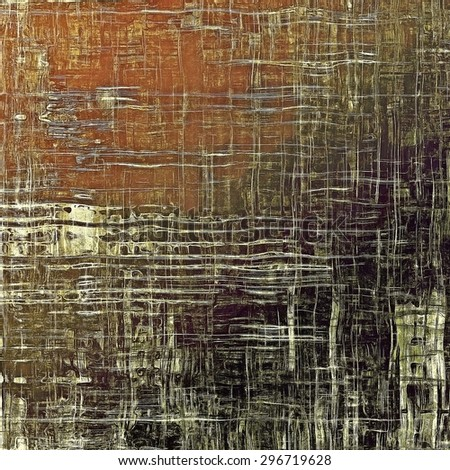 Weathered and distressed grunge background with different color patterns: yellow (beige); brown; green; black - stock photo