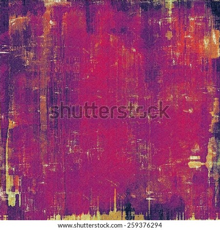 Weathered and distressed grunge background with different color patterns: yellow (beige); purple (violet); red (orange); pink - stock photo