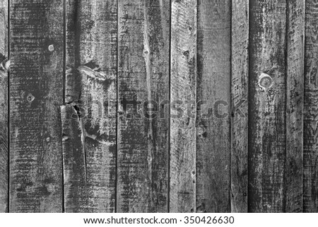 Weathered barn wood background in black and white. - stock photo