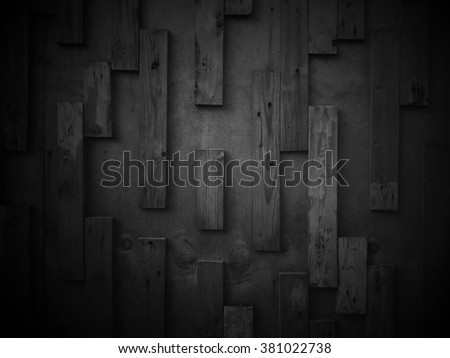 weathered barn wood background with knots. black old wood - stock photo