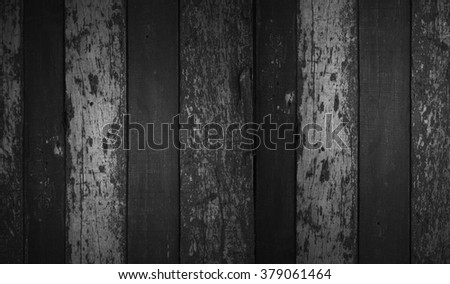 weathered barn wood background with knots. white black old wood - stock photo