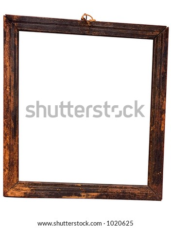 Weathered Beveled Wooden Frame w/ Path