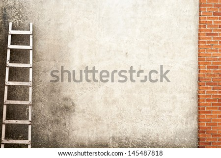 weathered brick wall background - stock photo
