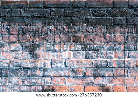 Weathered brick wall for background - stock photo