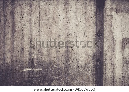 Weathered concrete wall texture outdoors - stock photo