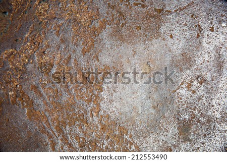 weathered iron/rusty steel texture - stock photo