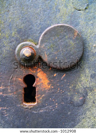 Weathered Keyhole - stock photo