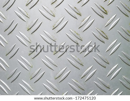 weathered metallic surface of a trash bin - stock photo