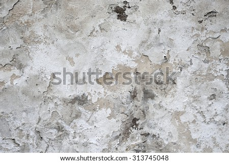 Weathered old grey wall texture - stock photo