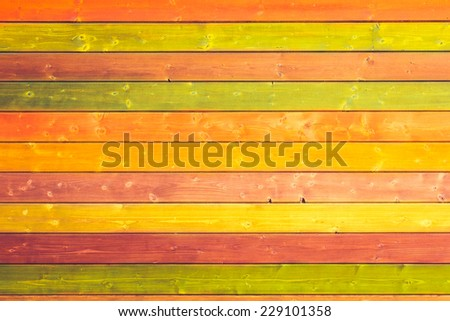 Weathered Painted Wood Panels for Background or Textures - stock photo