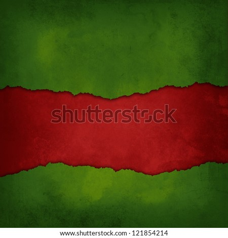 Weathered Red and green background - stock photo