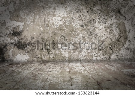 Weathered room as background - stock photo