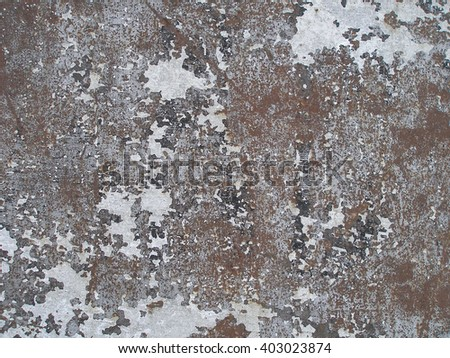 Weathered rusty metal abstract texture. Grunge background with peeling paint - stock photo