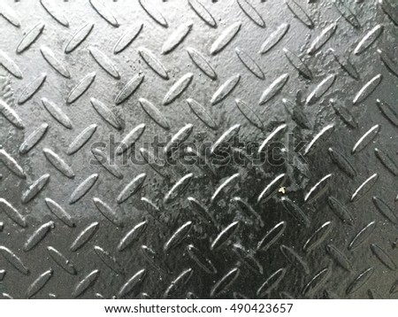 Weathered section of steel diamond plate