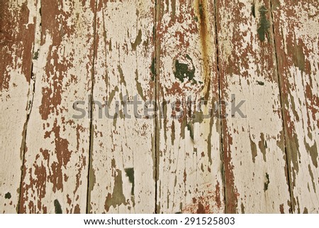 Weathered wooden boards at the beach