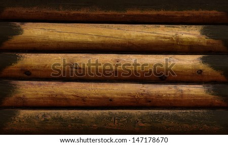 Weathered wooden logs natural pattern vintage background - stock photo