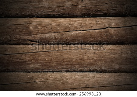 Weathered wooden logs with natural pattern grunge background - stock photo