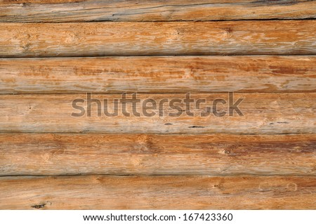 Weathered wooden logs with natural pattern vintage background - stock photo